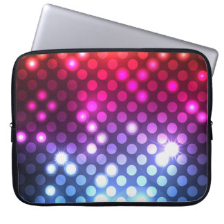 Modern Girly Glitter Lights Laptop Sleeve 15""