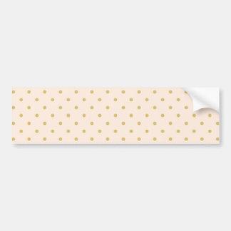 Modern Girly Pink and Gold Polka Dots Pattern Bumper Sticker