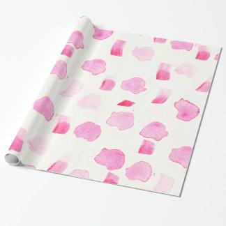 Modern girly pink watercolor brush strokes pattern