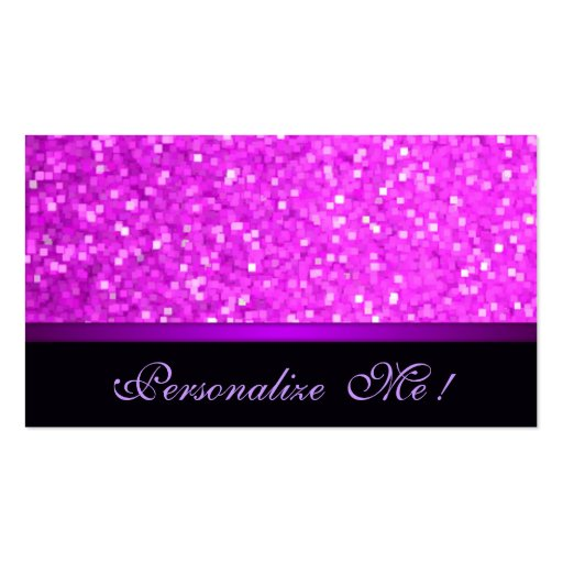 Modern Girly Sparkle Pink Glitter Purple Elegant Business Card Templates