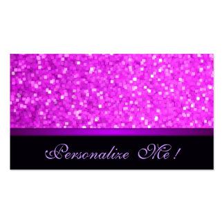 Modern Girly Sparkle Pink Glitter Purple Elegant Pack Of Standard Business Cards