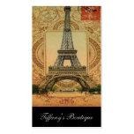 modern girly swirls vintage paris eiffel tower pack of standard business cards