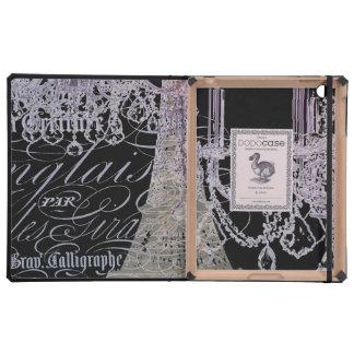 modern girly vintage chandelier paris eiffel tower case for iPad