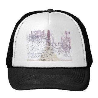modern girly vintage chandelier paris eiffel tower hat