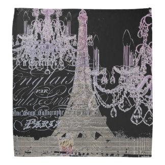 modern girly vintage chandelier paris eiffel tower bandannas