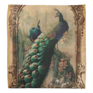 modern girly vintage peacock fashion bandannas