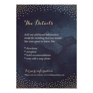 Modern glam night faux gold glitter detail card
