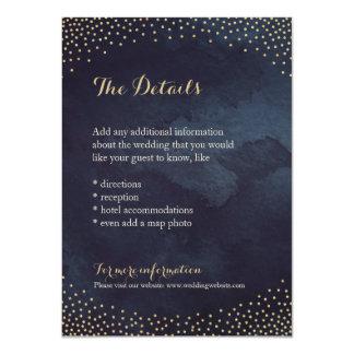 Modern glam night faux gold glitter detail card 11 cm x 16 cm invitation card