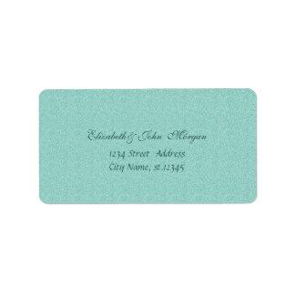 Modern Glamorous  Stylish Green,Glittery,Bokeh Address Label