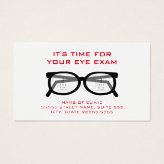 Modern Glasses Eye Exam Appointment Reminder