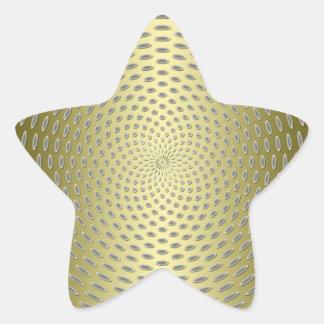 Modern Gold Abstract Design Sticker