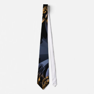 Modern Gold and Blue Tie