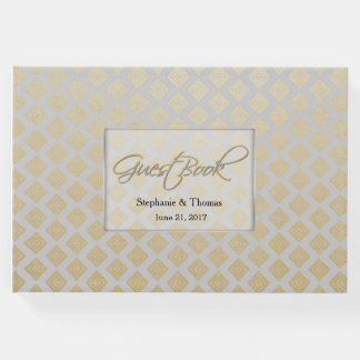 Modern Gold and Gray Wedding Guest Book