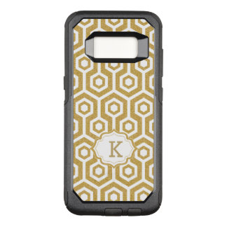 Modern Gold And White Octagon Pattern OtterBox Commuter Samsung Galaxy S8 Case