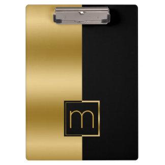 Modern Gold & Black Design Clipboard