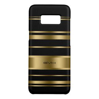 Modern Gold & Black Stripes Pattern Case-Mate Samsung Galaxy S8 Case