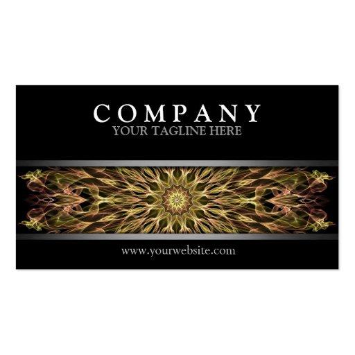 Modern Gold Copper Mandala Business Card Template