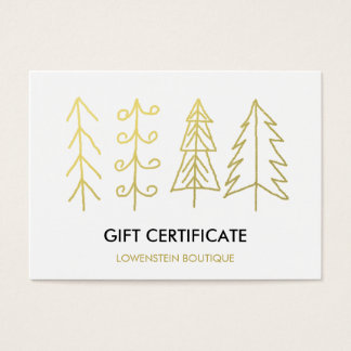 110 modern christmas business cards and modern christmas for Modern gold christmas tree