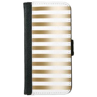 Modern Gold Foil Stripes iPhone 6 Wallet Case