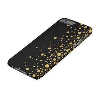 Modern Gold Glitter Dynamic Random Circles Design Barely There iPhone 6 Case