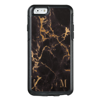 Modern Gold Glitter Pattern With Monogram OtterBox iPhone 6/6s Case