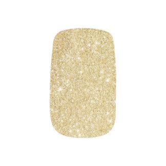 Modern Gold Glitter Sparkles Minx Nail Art
