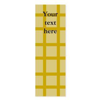 Modern gold grid pattern business card template