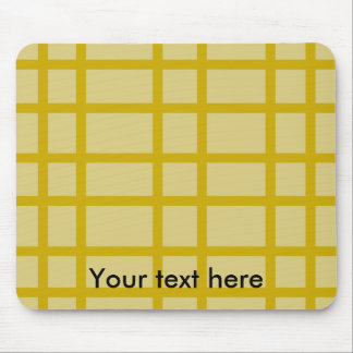 Modern gold grid pattern mouse pad