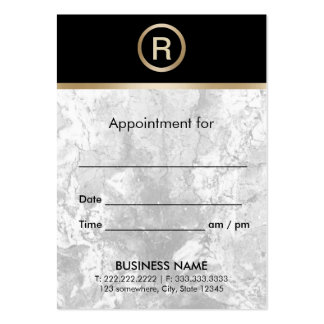 Modern Gold Monogram Marble Texture Appointment Pack Of Chubby Business Cards