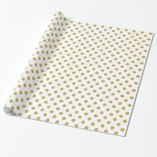 Modern Gold Polka Dot Foil Wrapping Paper