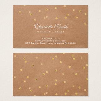 Modern Gold Polka Dots Business Card
