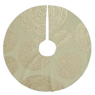 modern, gold,polka dots, metallic,elegant,chic,han brushed polyester tree skirt