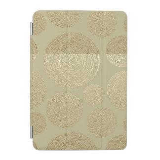 modern, gold,polka dots, metallic,elegant,chic,han iPad mini cover