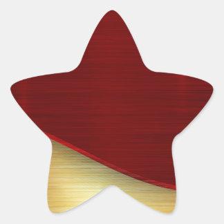 Modern,gold,red,metallic,trendy,abstract,pattern, Star Sticker