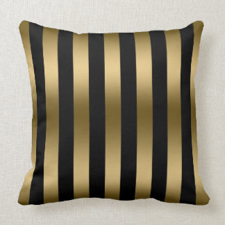 worldofweapons.tk: gold stripe pillow. Fjfz Christmas Gold Foil Print Winter Deer Antlers Elk Cotton Linen Home Decorative Throw Pillow Case Cushion Cover for Sofa Couch,Black and White Stripe,18