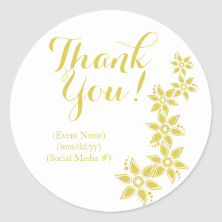 Modern Gold Tropical Floral Stickers