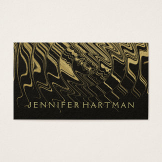 Modern Gold Waves Business Card
