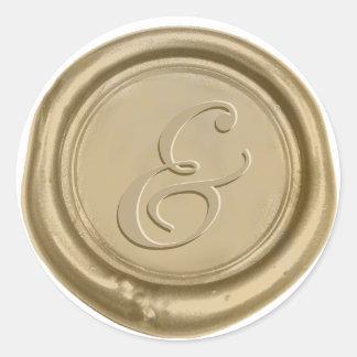 Modern Gold Wedding Ampersand Wax Seal