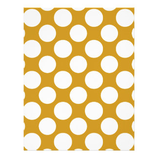 Modern Gold White Polka Dots Pattern Flyer