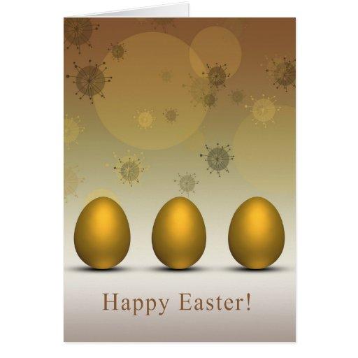 Modern Golden Easter Eggs - Greeting Card