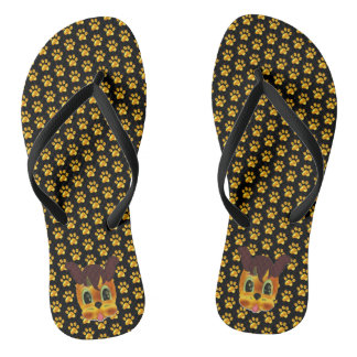 Modern Golden Paws Thongs