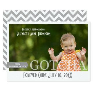 Modern Gotcha Day - Adoption Announcement