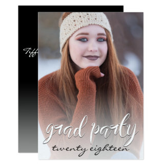 Modern Grad Party  Full Size Portrait Template