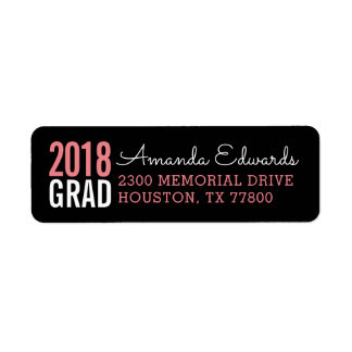 Modern Grad Personalized Return Address Return Address Label