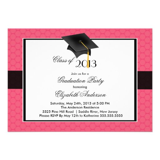 Modern Graduate Cap & Tassel Graduation Party Announcements