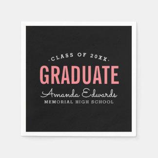 Modern Graduate Personalized Graduation Party Paper Napkin