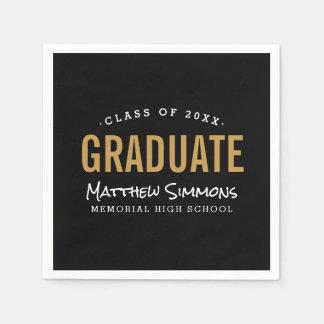 Modern Graduate Personalized Graduation Party Paper Serviettes