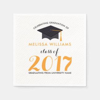 Modern Graduation Class Of 2017 Disposable Serviette