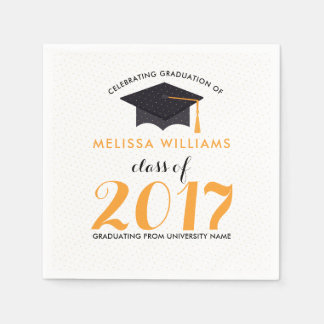 Modern Graduation Class Of 2017 Paper Napkins