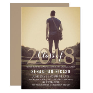Modern Graduation Class of Personalized - Taupe Card